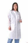 Medline NONSW100 Disposable Knit Cuff / Traditional Collar Multi-Layer Lab Coats