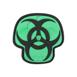 Maxpedition BZSK Biohazard Skull Patch  2 x 2