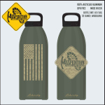 Maxpedition LB32FLAG MAXPEDITION 32oz Water Bottle FLAG