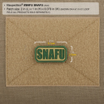 Maxpedition SNFU SNAFU Patch  2 x 1