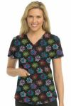 Med Couture 8461 Shirttail Serena Print Top