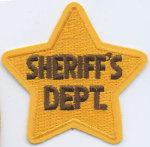 Premier Emblem E1202 Sheriff's Dept Star