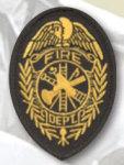 Premier Emblem E1400 3 1/2 X 2 1/2 Fire Dept Badge Patch