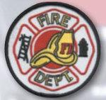 Premier Emblem E1428 3 1/2 Fire Dept. Circle W/Helmet