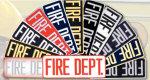 Premier Emblem FIREDEPT411 4 X 11 Fire Dept Patch