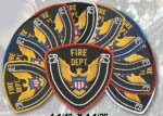 Premier Emblem E1526 4 1/4 X 4 1/2 Fire Dept.Patch