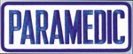 Premier Emblem PARAMEDIC411PATCH 4 X 11 Paramedic Patch