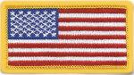 Premier Emblem E1925 1 3/4 X 3 1/4 Tiny American Flags