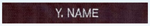 Premier Emblem E998 Embroidered Name Strip