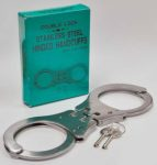 Premier Emblem P10022 Double Lock Stainless Steel Hinged Handcuffs