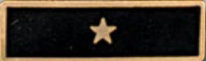 Premier Emblem P1522 Enameled  1 Star Black