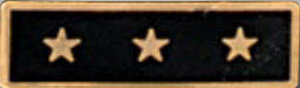 Premier Emblem P1526 Enameled  3 Star Black