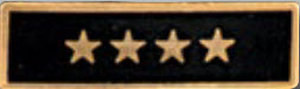 Premier Emblem P1528 Enameled  4 Star Black