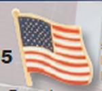 Premier Emblem WavyAmericanFlagPin58 Wavy American Flag Pin 5/8