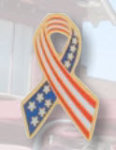 Premier Emblem P4204 American Flag Ribbon Pin