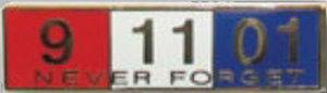 Premier Emblem P4784 NEVER FORGET - 1 3/8 x 3/8