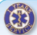 Premier Emblem FDEMSSERVICEPINS 3/4 FIRE/EMS Years of Service Pins