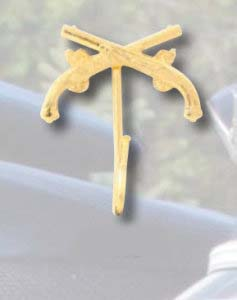 Premier Emblem P4902 Crossed Pistol Hook