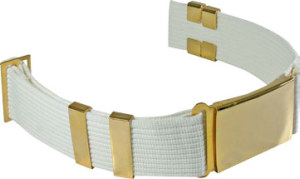 Premier Emblem P5170PB-B Delux Parade Belt Without Eyelets, With Large Buckle and 4 Keepers