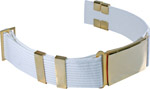 Premier Emblem P5170 Parade Belt Without Eyelets, With Large Buckle,2 Keepers