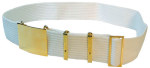 Premier Emblem P5180 Parade Belt With Eyelets, Large Buckle,4 Keepers