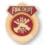 Premier Emblem P60 Fire Dept. Scrolls and Sunbursts Tie Tacs