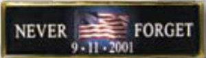 Premier Emblem P911-8 NEVER FORGET - 1 3/8 x 3/8