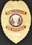 Premier Emblem VOLFIREDEPTSHIELD Volunteer Fire Department Eagle Shield