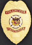 Premier Emblem VOLFIREFIGHTER Volunteer Fire Fighter Eagle Shield