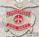 Premier Emblem PB508 Fire Fighter Fire Dept. Eagle Cut Out