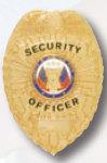 Premier Emblem PB800 Security Officer Shield 2 Panel Badge