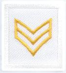 Premier Emblem PE975 1 1/2 x 1 3/8 Sergeant