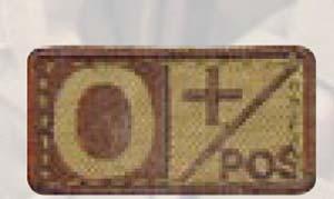Premier Emblem PM295 BLOOD TYPE PATCHES