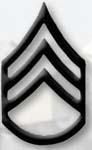 Premier Emblem PMBM-106 Black Metal - Staff Sgt