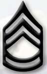 Premier Emblem PMBM-107 Black Metal - Sgt 1st Class