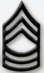 Premier Emblem PMBM-108 Black Metal - Master Sgt