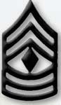 Premier Emblem PMBM-109 Black Metal - 1st Sgt