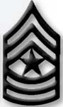 Premier Emblem PMBM-110 Black Metal - Sgt Major
