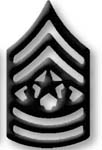 Premier Emblem PMBM-111 Black Metal - Cmd Sgt. Major