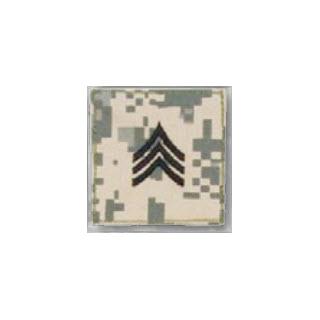 Premier Emblem PMSV-105 BLACK ACU ranks WT VELCRO - Sergeant