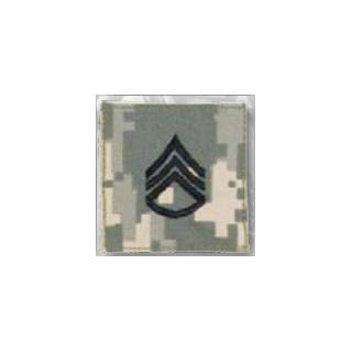 Premier Emblem PMSV-106 BLACK ACU ranks WT VELCRO - Staff Sgt
