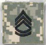 Premier Emblem PMSV-107 BLACK ACU ranks WT VELCRO - Sgt 1st Class