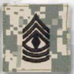 Premier Emblem PMSV-109 BLACK ACU ranks WT VELCRO - 1st Sgt