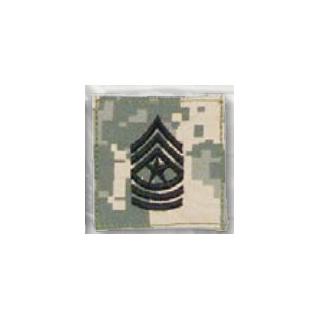 Premier Emblem PMSV-110 BLACK ACU ranks WT VELCRO - Sgt Major