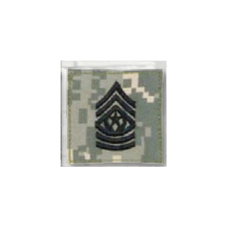 Premier Emblem PMSV-111 BLACK ACU ranks WT VELCRO - Cmd Sgt. Major