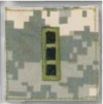 Premier Emblem PMSV-114 BLACK ACU ranks WT VELCRO - Warrant Officer 3