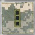 Premier Emblem PMSV-114 BLACK ACU ranks WT VELCRO - Warrant Officer 3