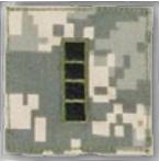 Premier Emblem PMSV-115 BLACK ACU ranks WT VELCRO - Warrant Officer 4