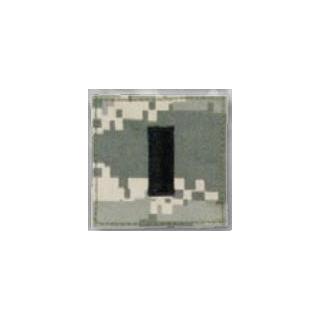 Premier Emblem PMSV-117 BLACK ACU ranks WT VELCRO - 1st Lieutenant