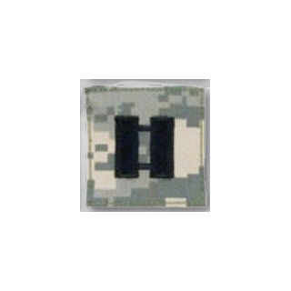 Premier Emblem PMSV-118 BLACK ACU ranks WT VELCRO - Captain